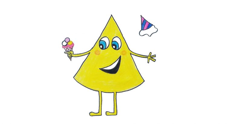 Cone clipart simple and easy cartoon drawing by hand for kids