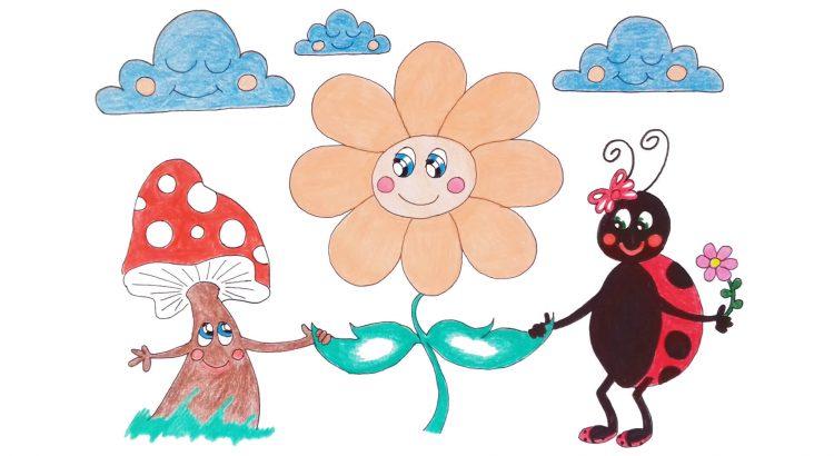 Flower and ladybird