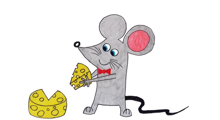 Mouse clipart simple and easy cartoon drawing by hand for kids